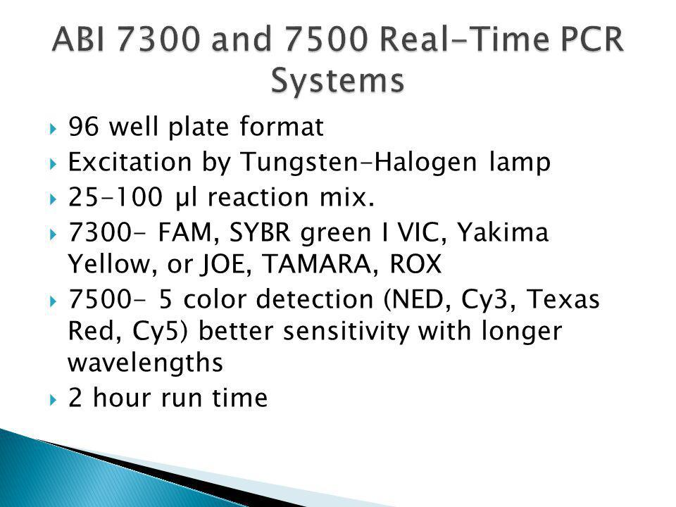 ABI 7300 and 7500 Real-Time PCR Systems