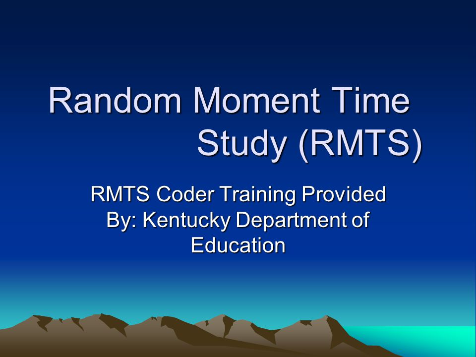 Random Moment Time Study (RMTS)