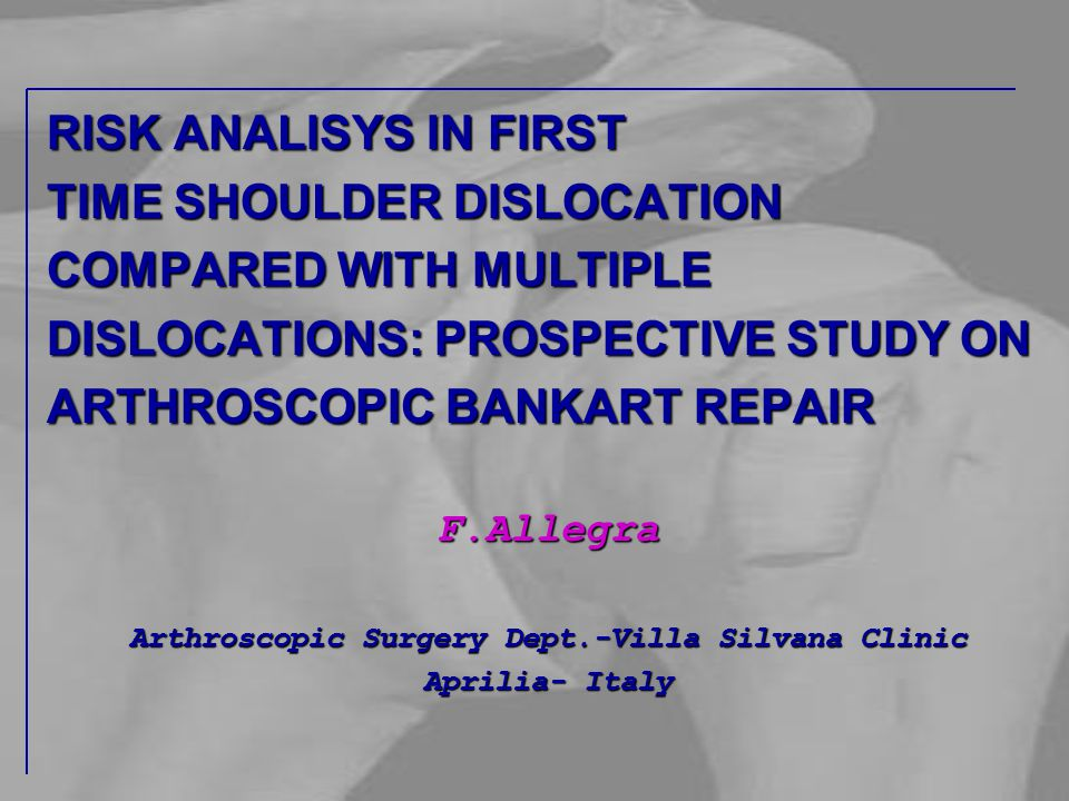 Arthroscopic Surgery Dept.-Villa Silvana Clinic