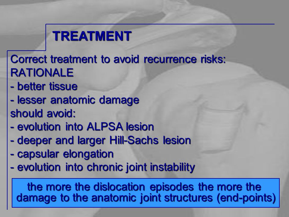 Correct treatment to avoid recurrence risks: RATIONALE - better tissue