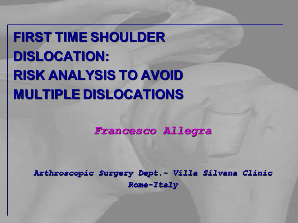 Arthroscopic Surgery Dept.- Villa Silvana Clinic