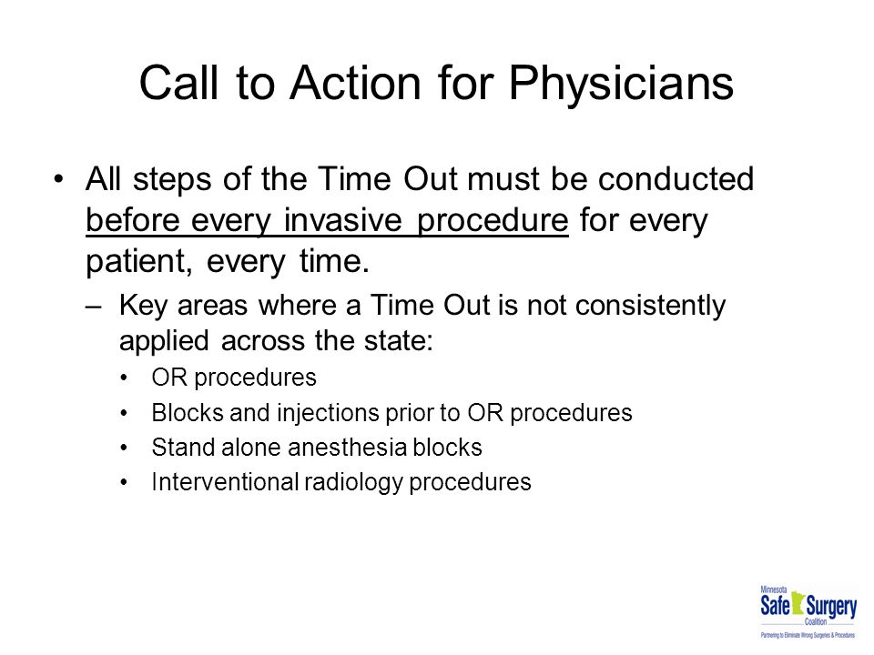 Call to Action for Physicians