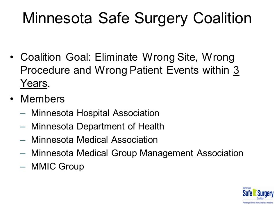 Minnesota Safe Surgery Coalition