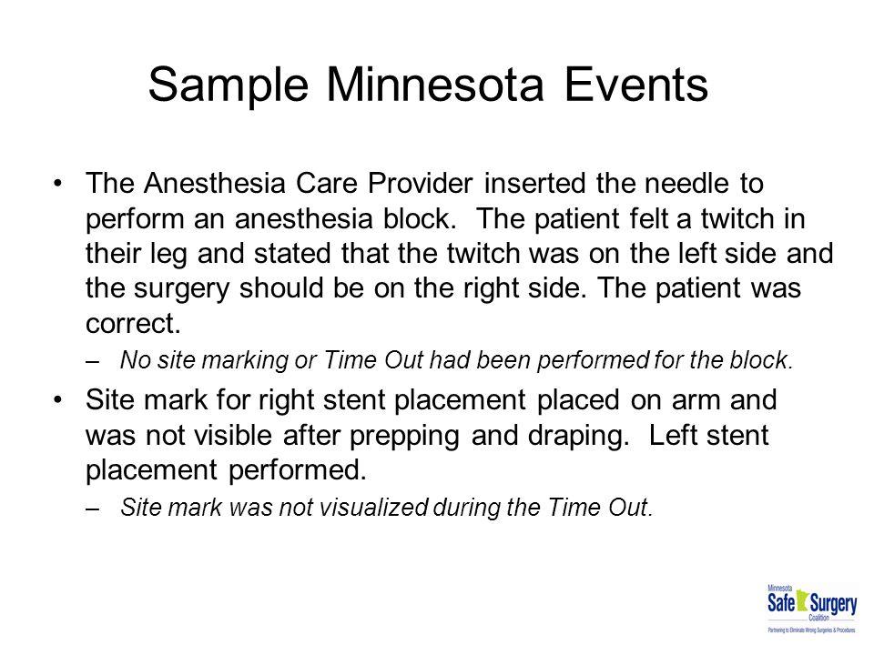 Sample Minnesota Events