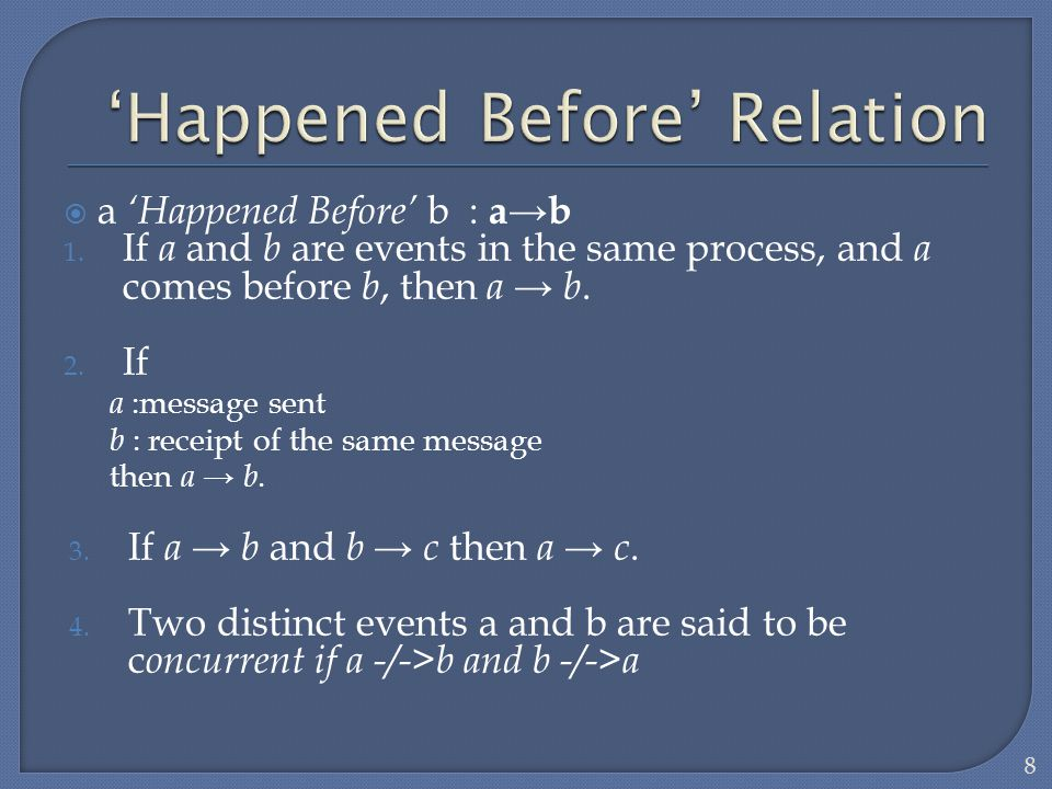'Happened Before' Relation