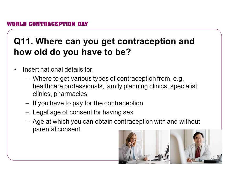Q11. Where can you get contraception and how old do you have to be