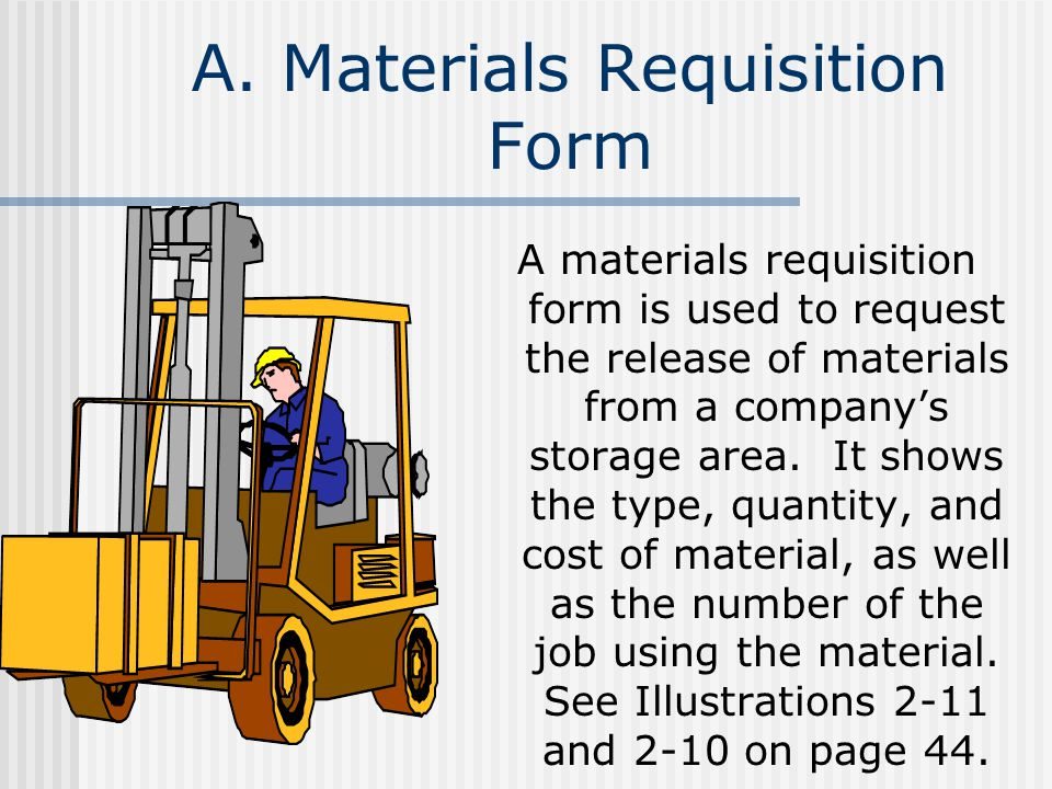 A. Materials Requisition Form