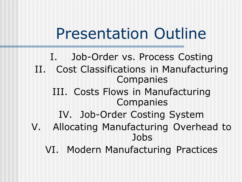 Presentation Outline Job-Order vs. Process Costing
