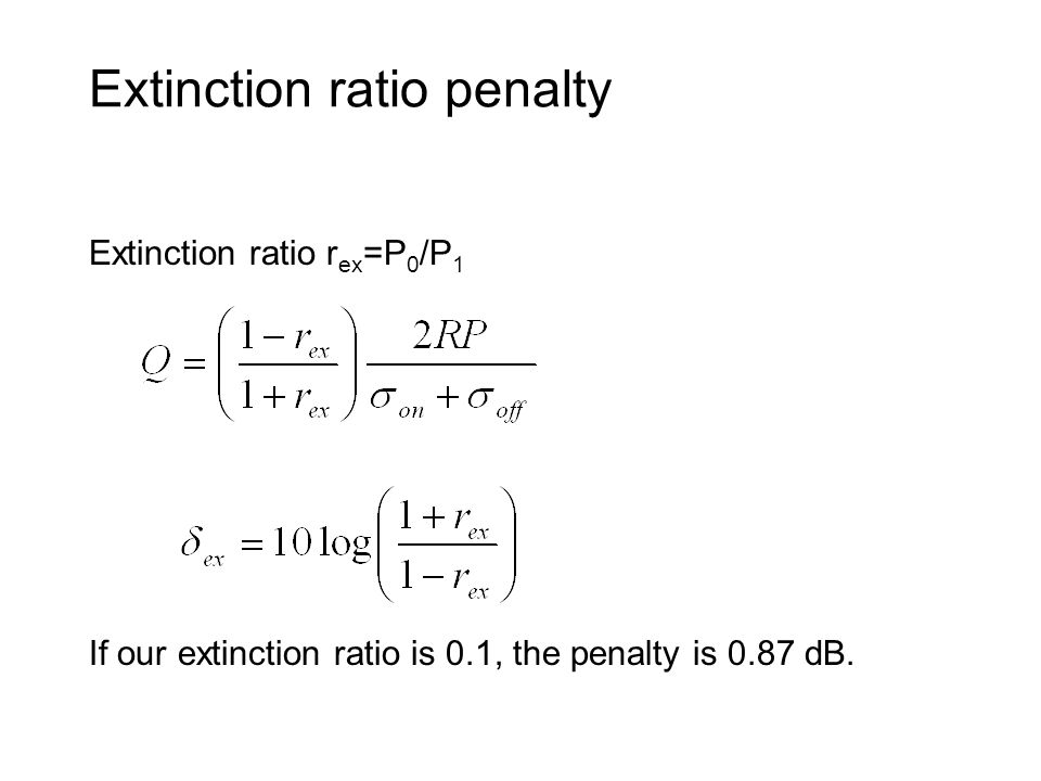 Extinction ratio penalty