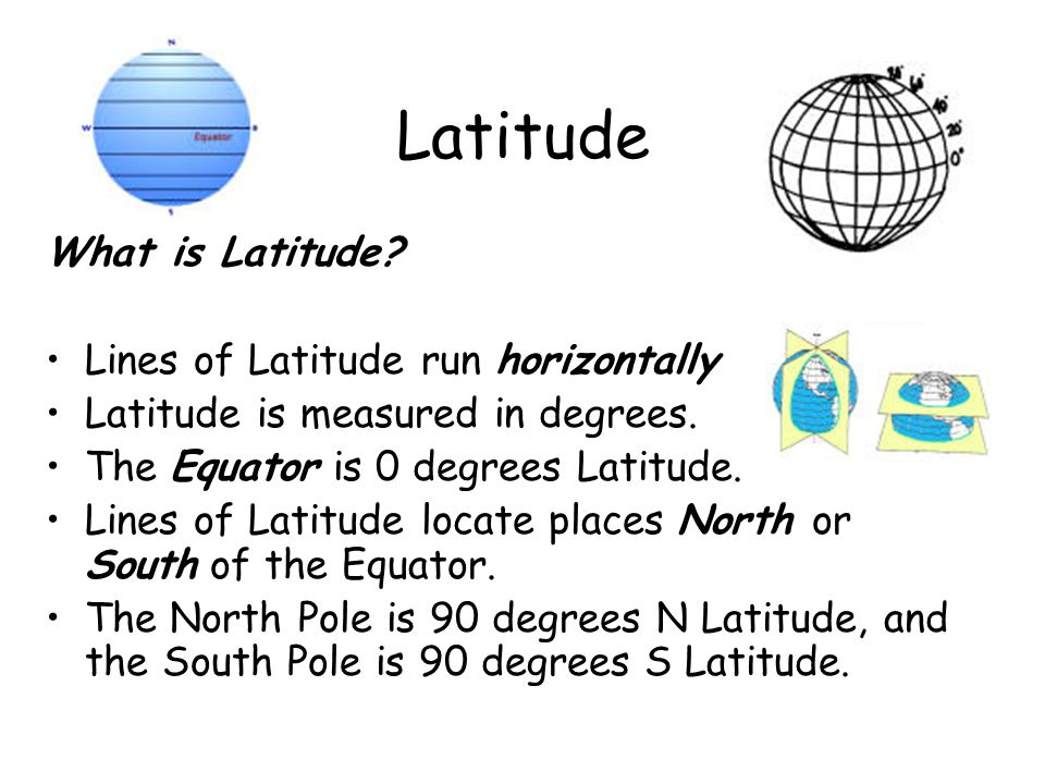 Latitude What is Latitude Lines of Latitude run horizontally