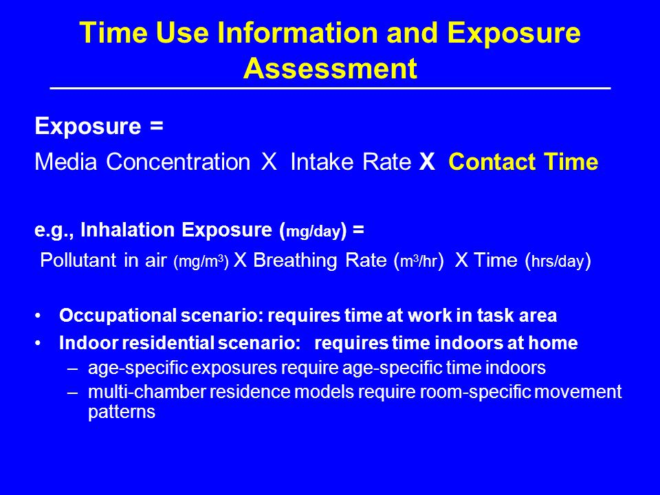Time Use Information and Exposure Assessment
