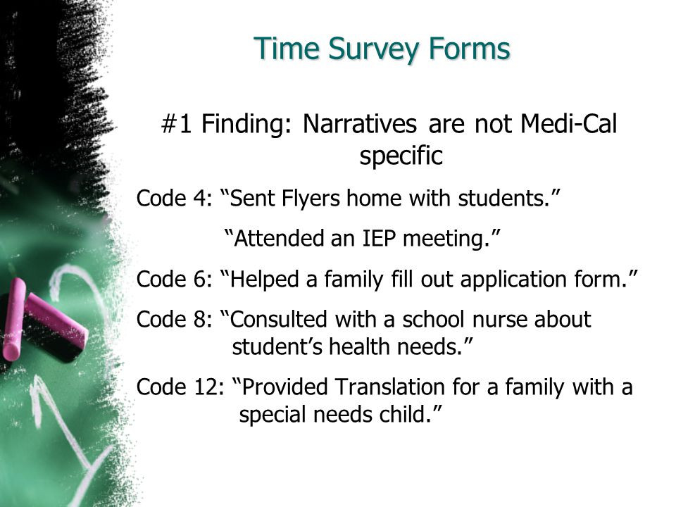 #1 Finding: Narratives are not Medi-Cal specific