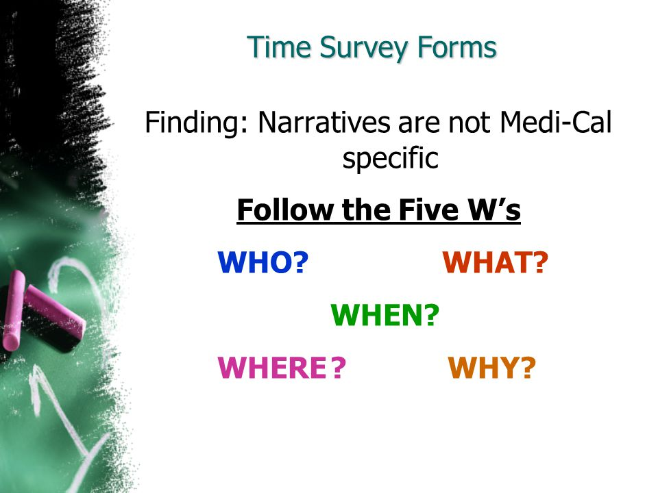Finding: Narratives are not Medi-Cal specific