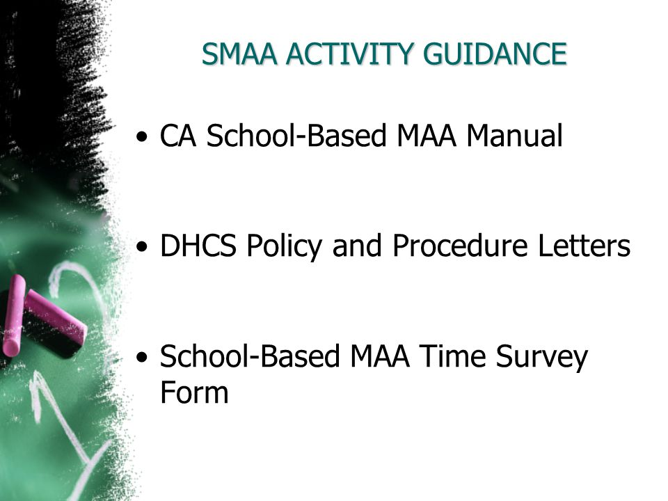 SMAA ACTIVITY GUIDANCE