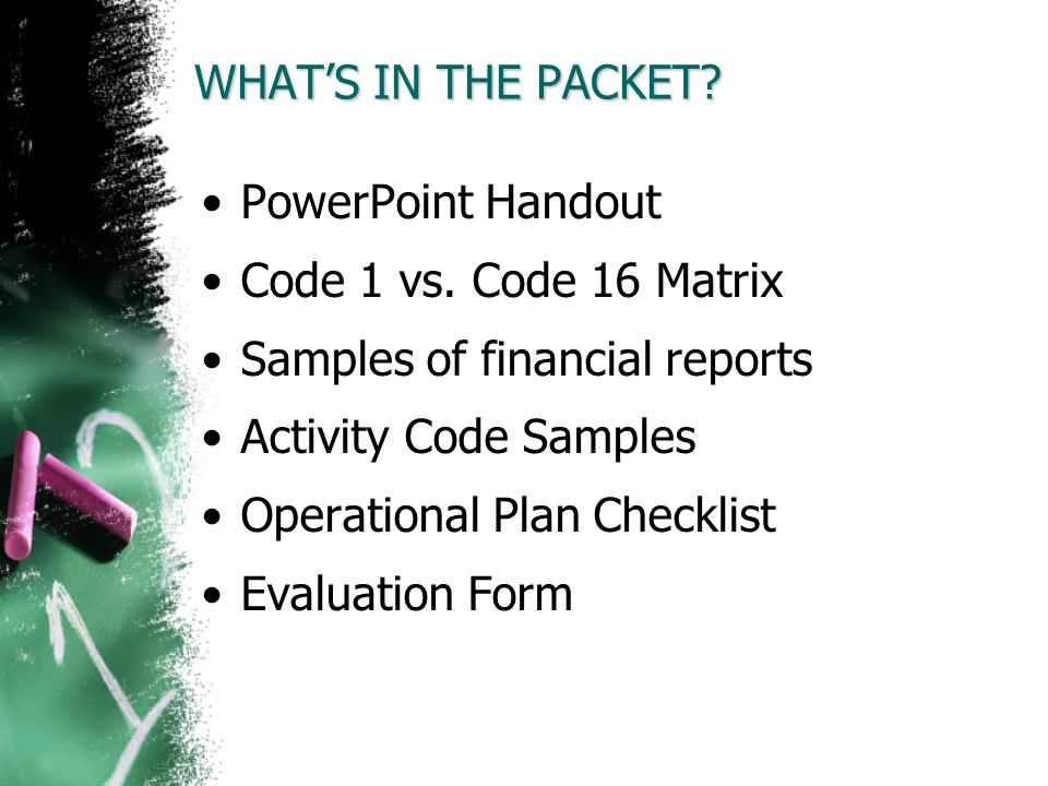 Samples of financial reports Activity Code Samples