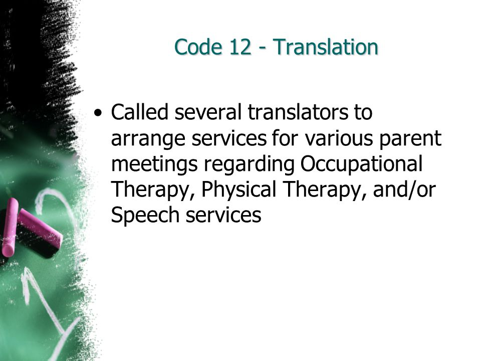 Code 12 - Translation