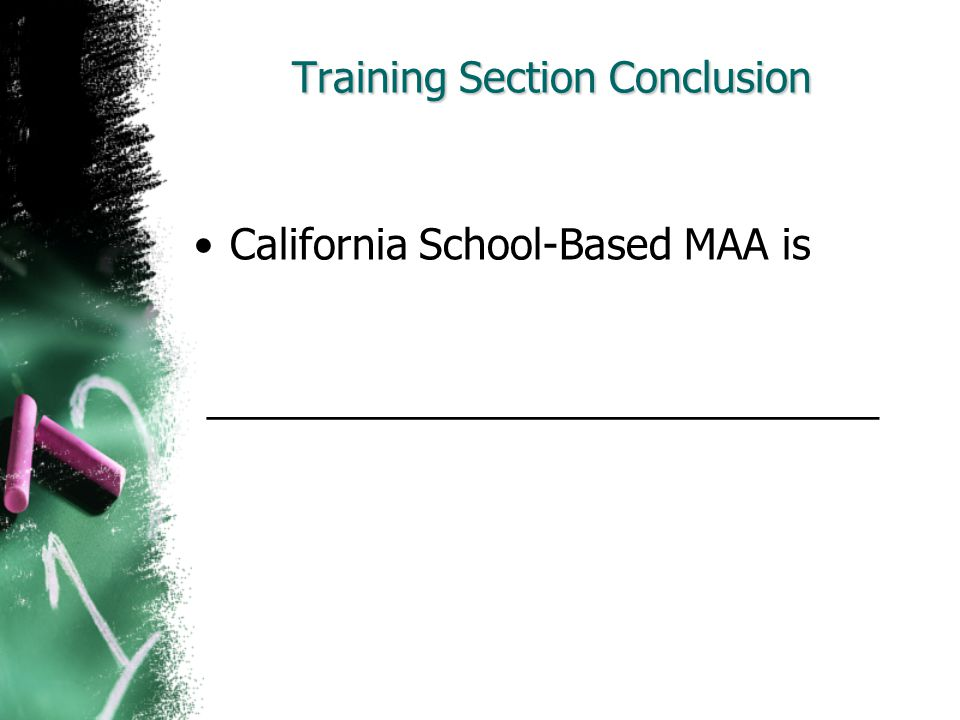 Training Section Conclusion