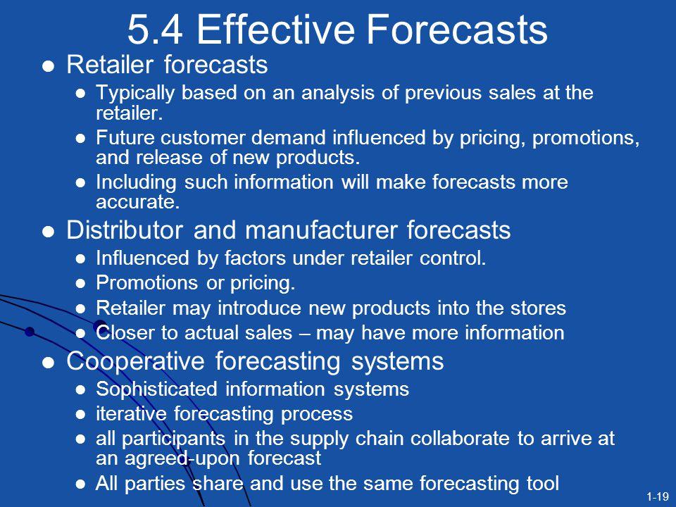 5.4 Effective Forecasts Retailer forecasts