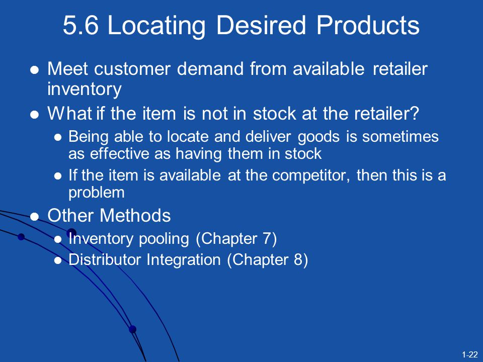 5.6 Locating Desired Products