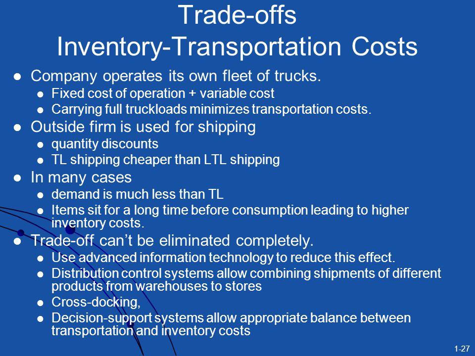 Trade-offs Inventory-Transportation Costs