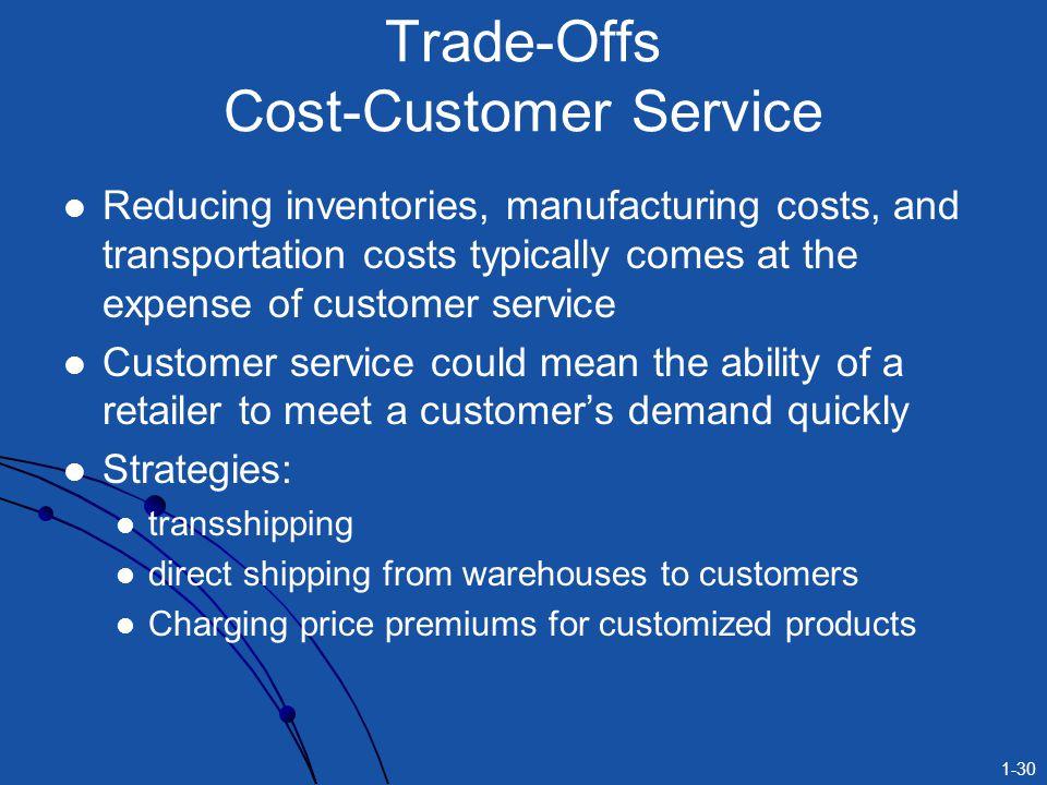 Trade-Offs Cost-Customer Service