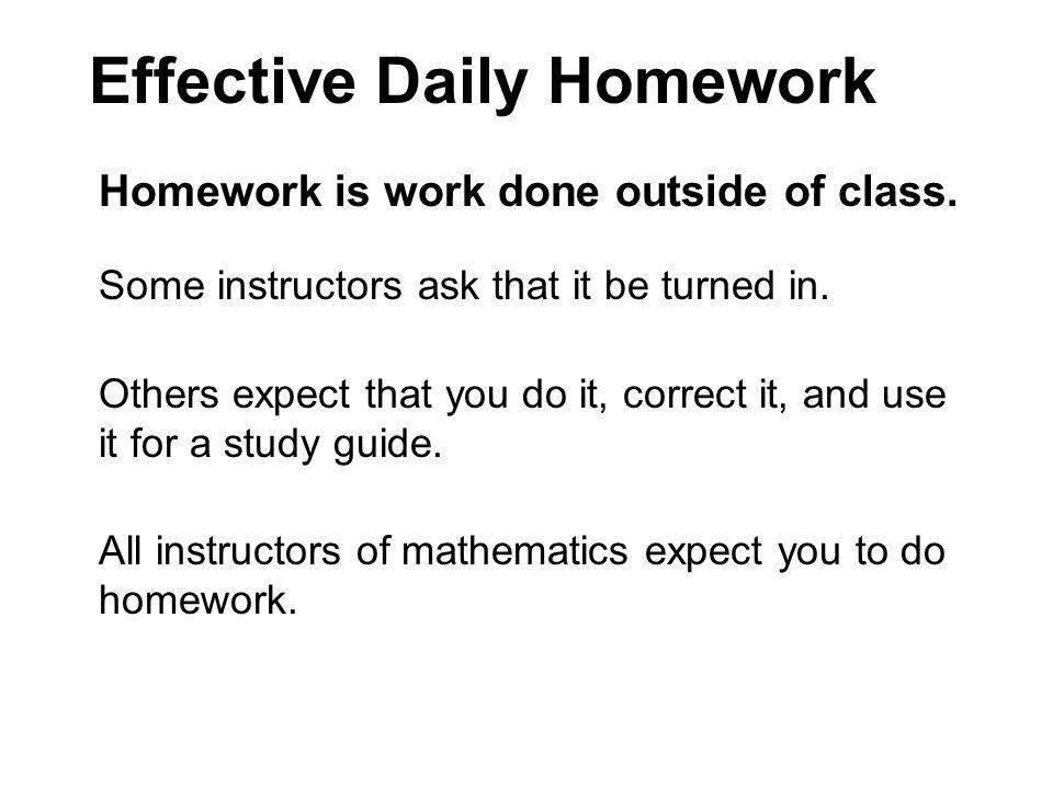 Effective Daily Homework