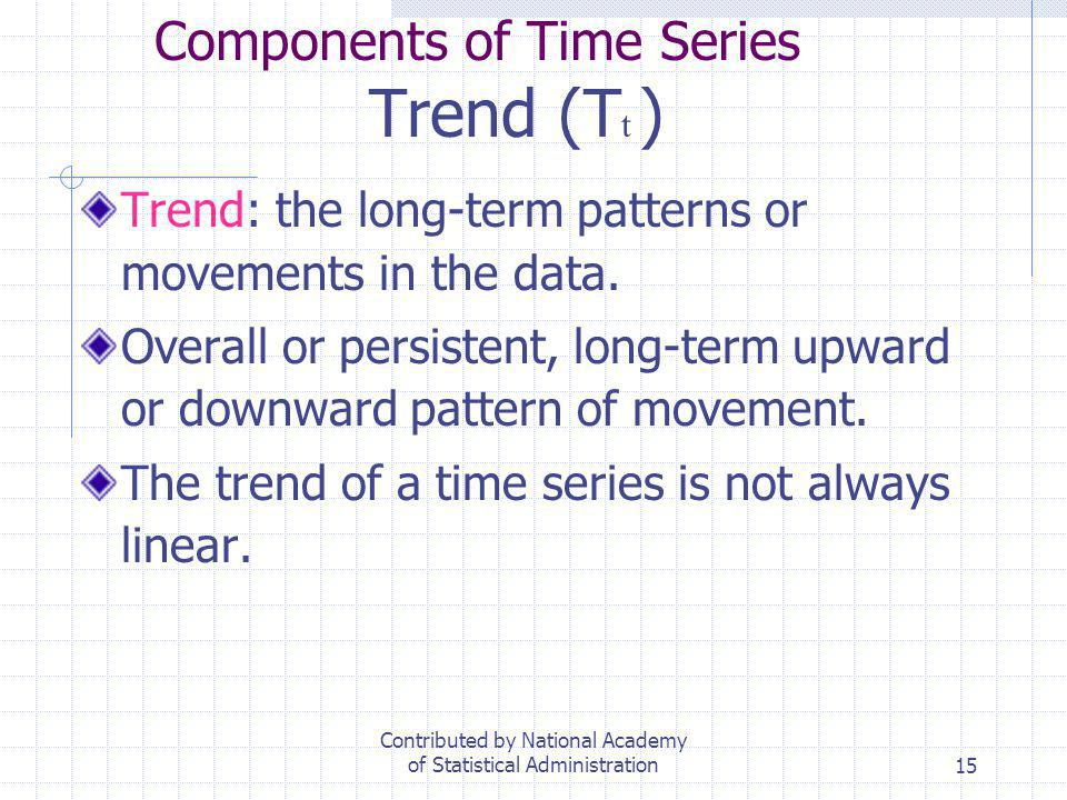 Components of Time Series Trend (Tt )