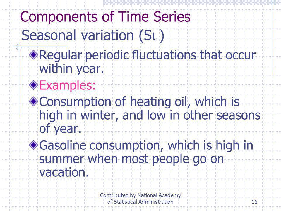 Seasonal variation (St )