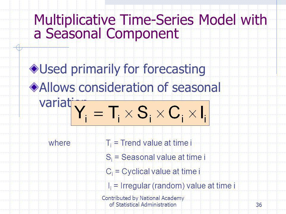 Multiplicative Time-Series Model with a Seasonal Component