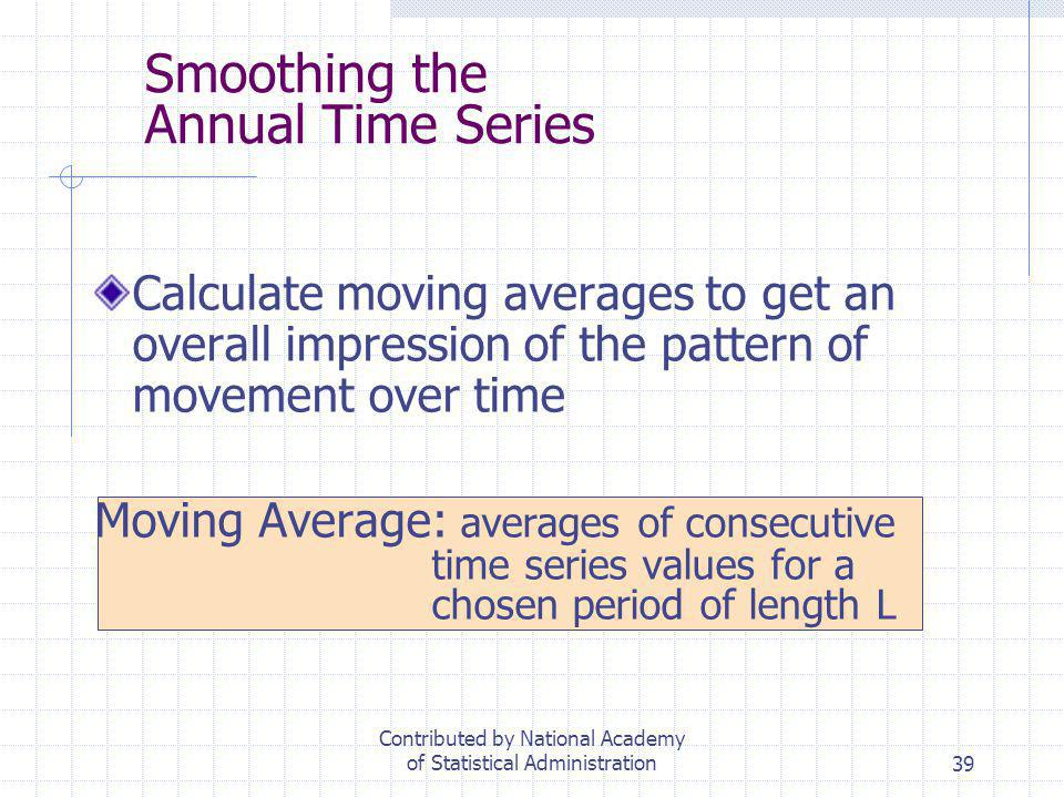 Smoothing the Annual Time Series
