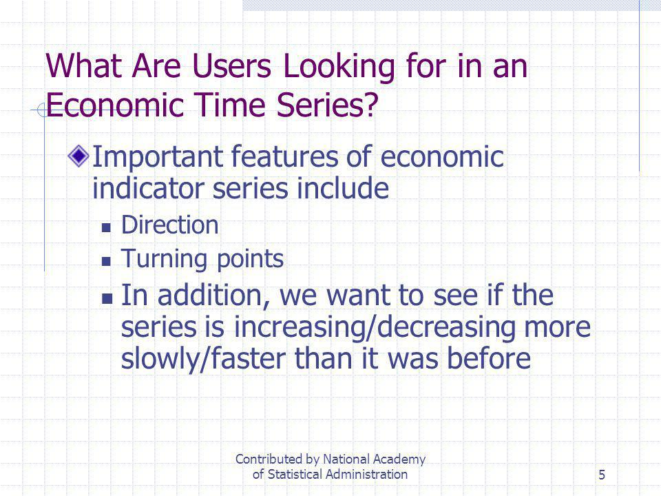 What Are Users Looking for in an Economic Time Series