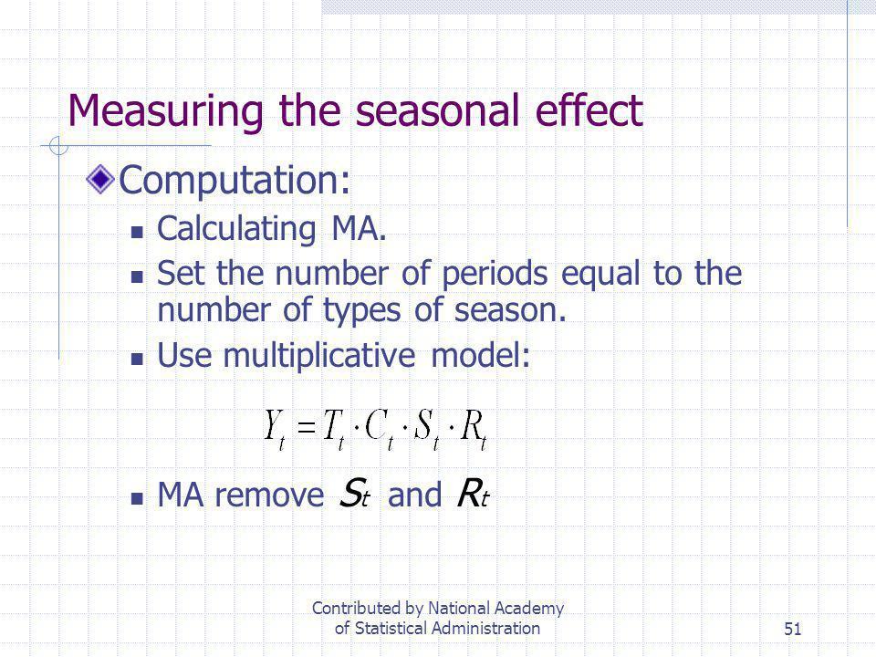 Measuring the seasonal effect