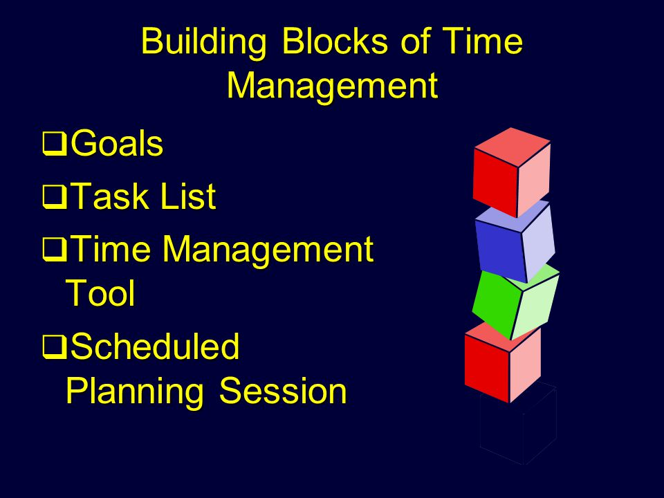 Building Blocks of Time Management