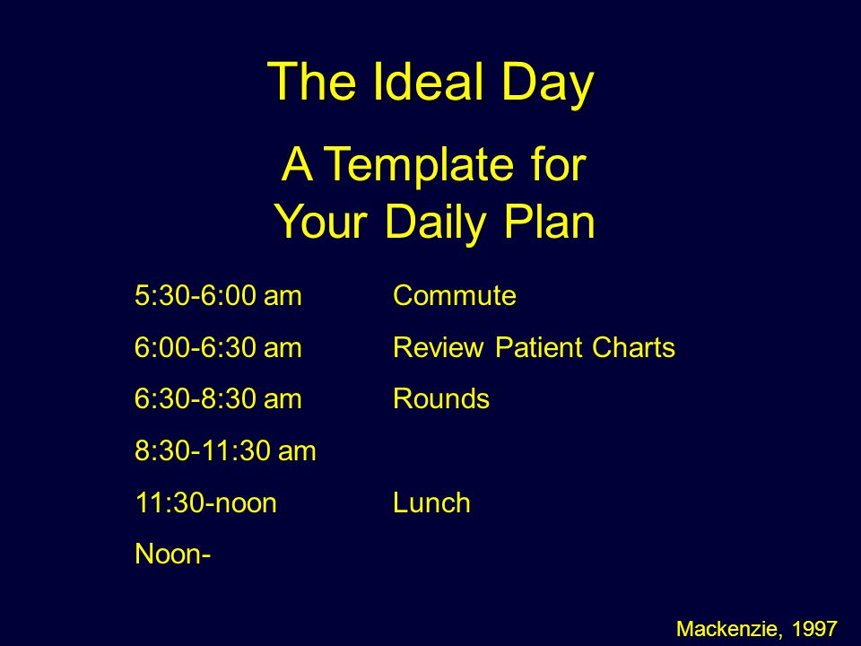 A Template for Your Daily Plan