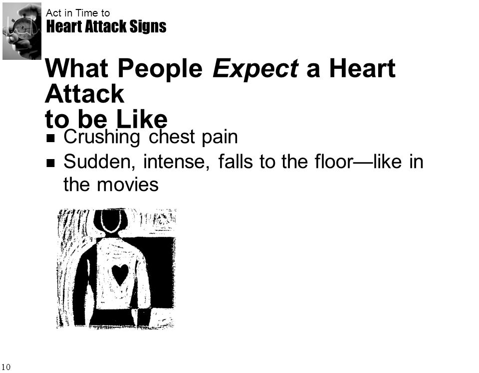 What People Expect a Heart Attack to be Like