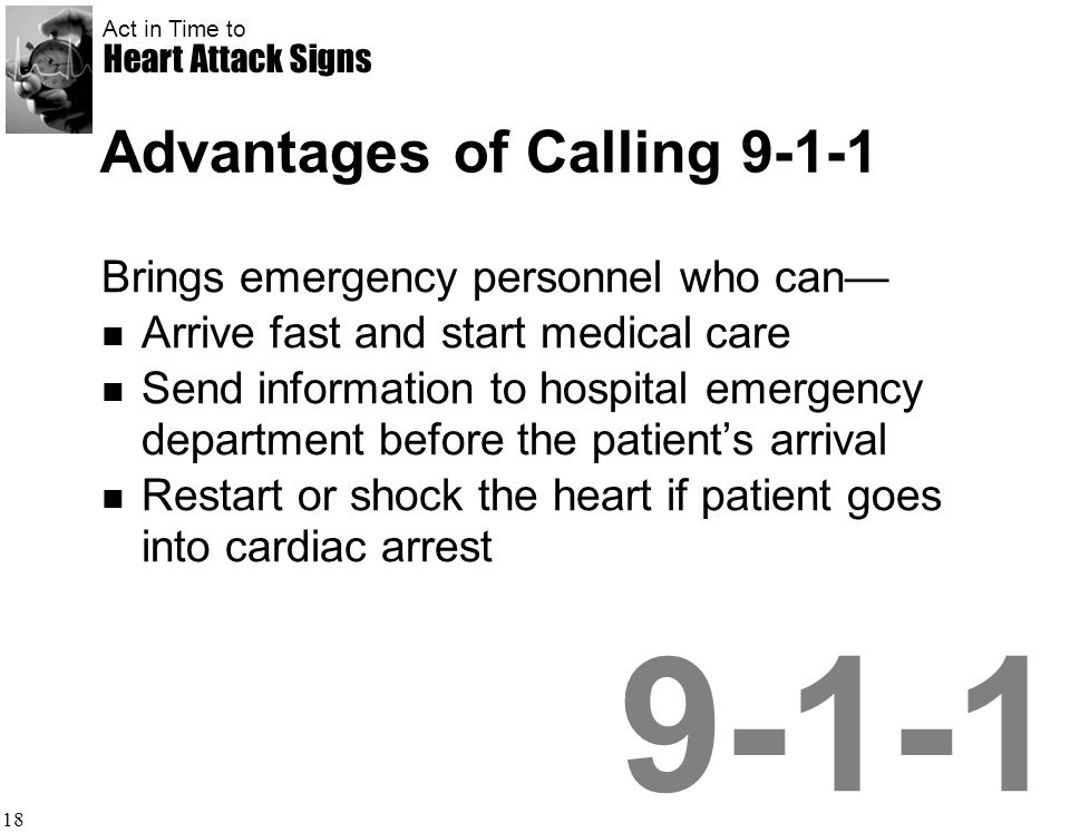 Advantages of Calling 9-1-1