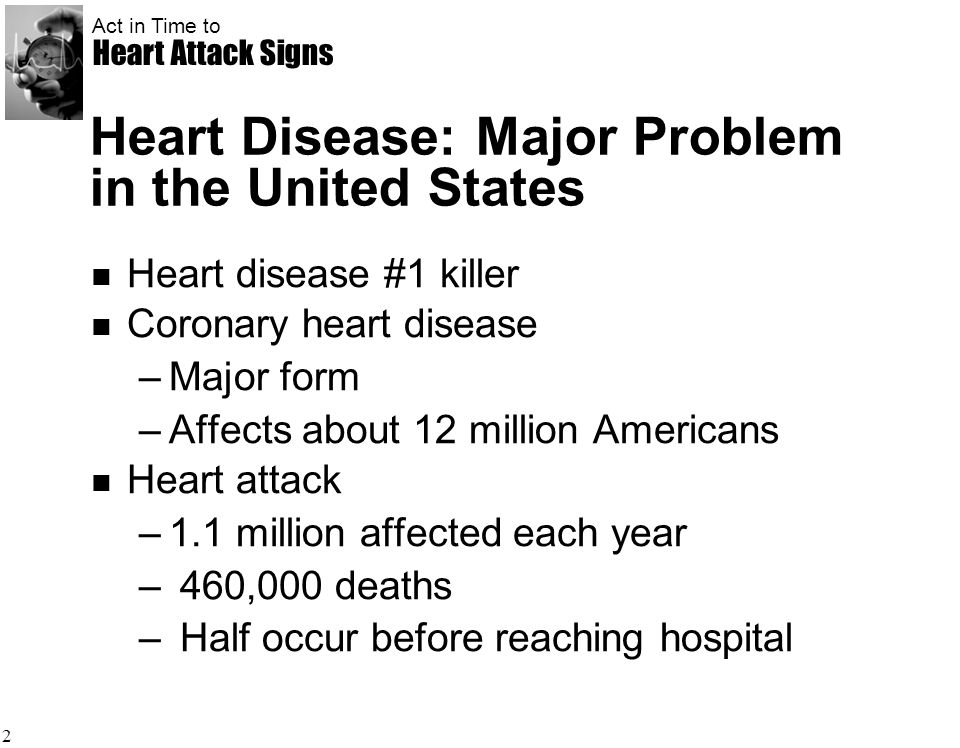 Heart Disease: Major Problem in the United States