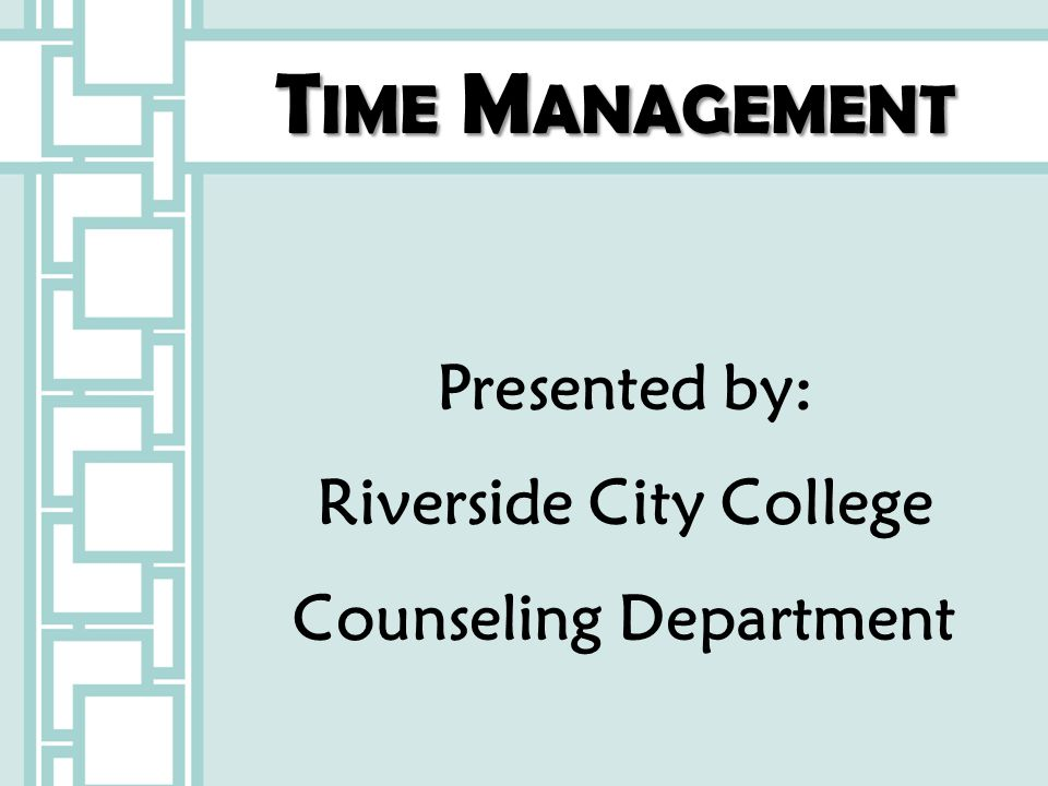 Riverside City College Counseling Department