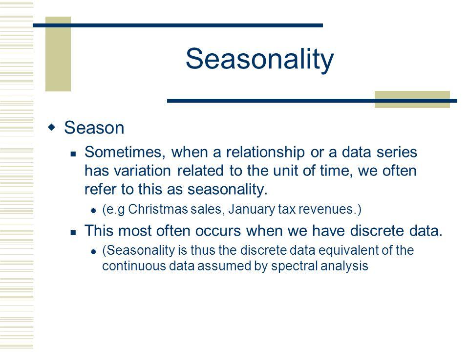Seasonality Season.