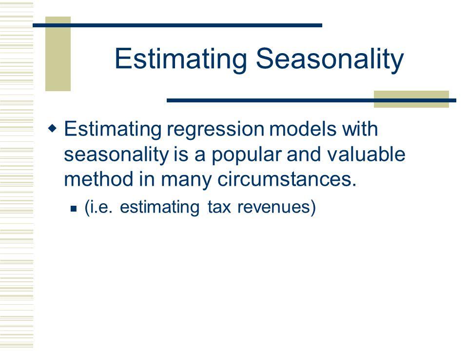 Estimating Seasonality