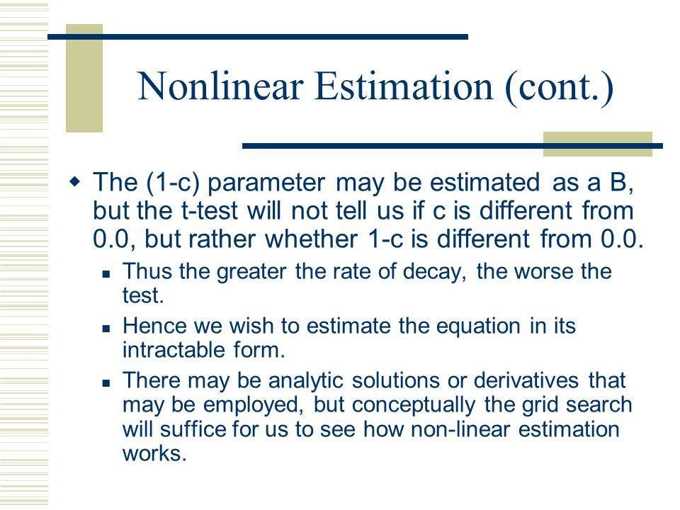 Nonlinear Estimation (cont.)