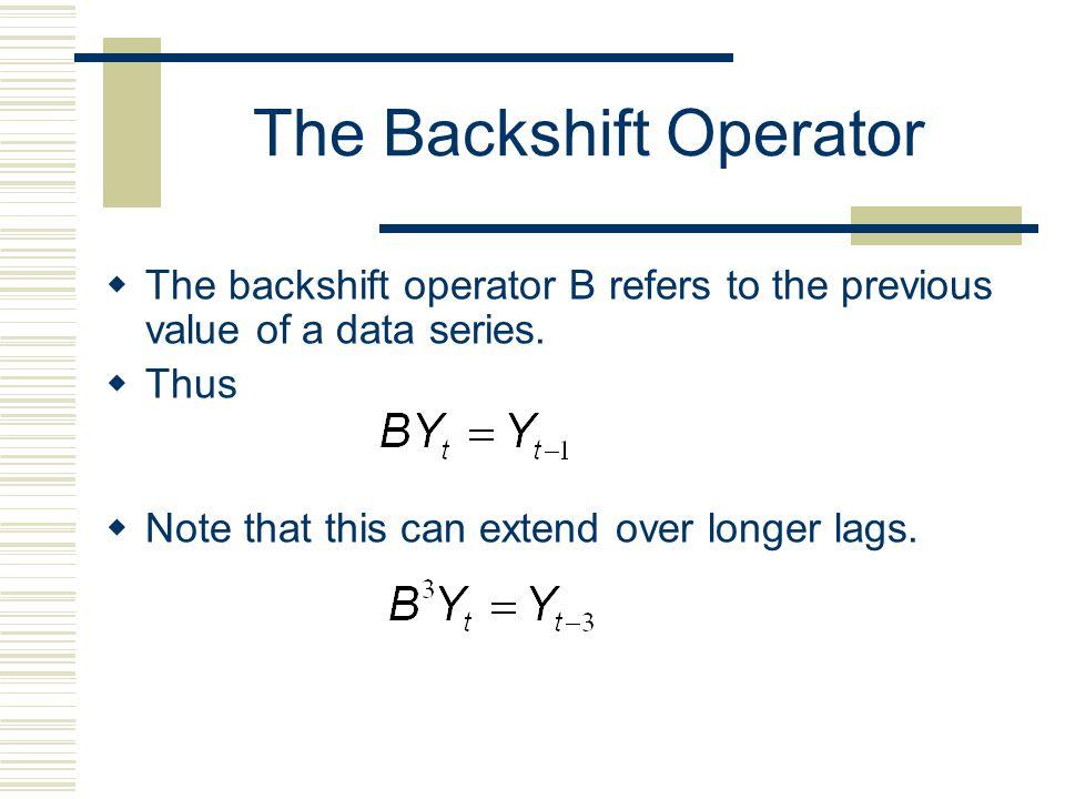 The Backshift Operator