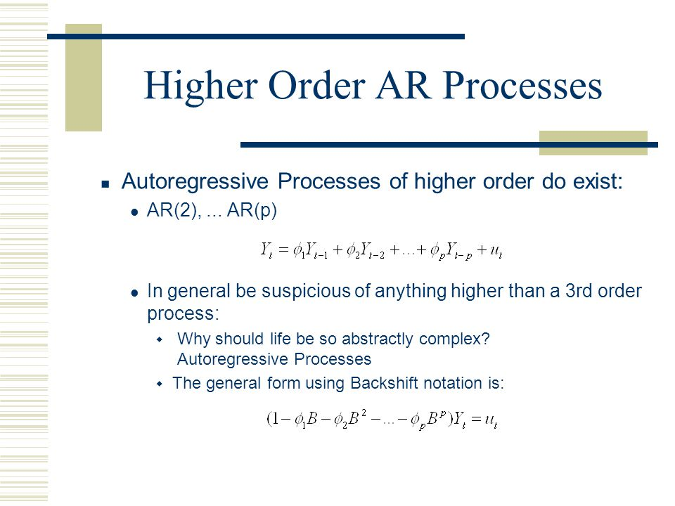 Higher Order AR Processes