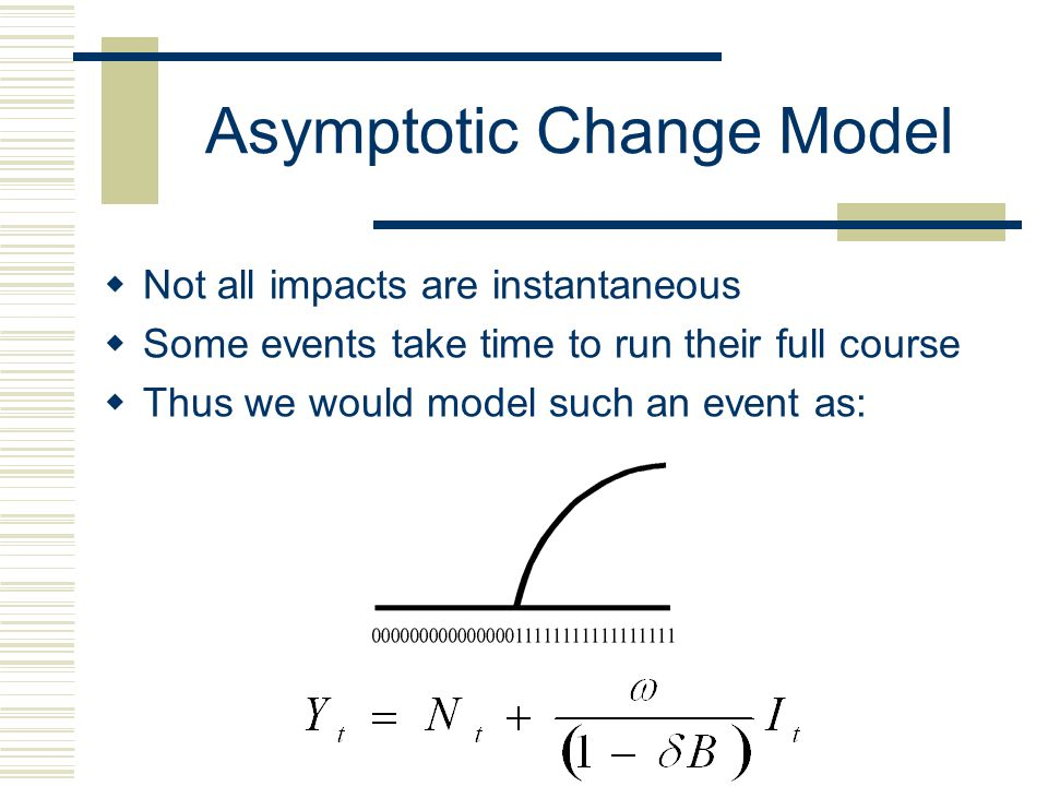 Asymptotic Change Model