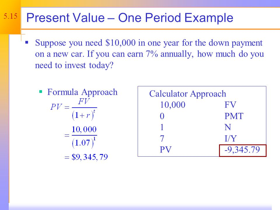 Present Value – Example 2