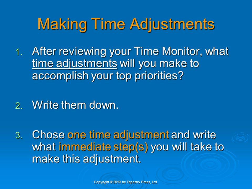 Making Time Adjustments