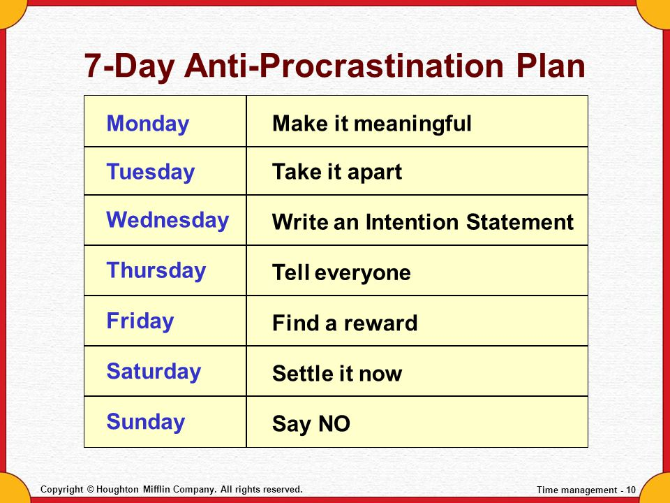 7-Day Anti-Procrastination Plan