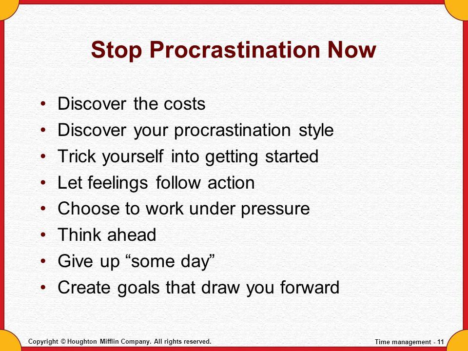 Stop Procrastination Now