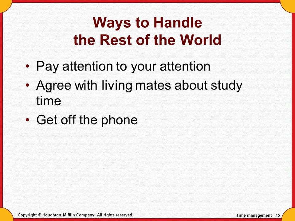 Ways to Handle the Rest of the World