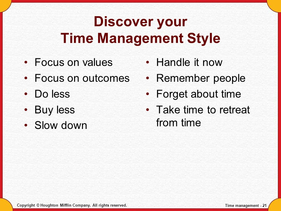 Discover your Time Management Style